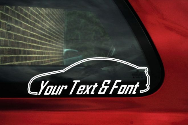 2x Ford Puma CUSTOM TEXT stickers